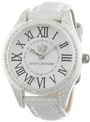 Juicy Couture Women's 1900744 Lively White Leather Strap Watch $189.99 thestylecure.com