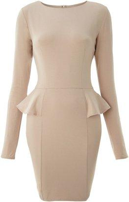 AX Paris Women's Long sleeve peplum dress