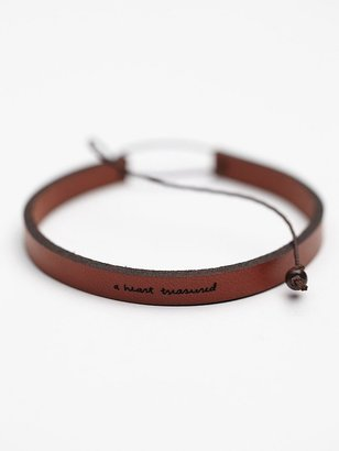 Laurèl Denise All in a Word Leather Bracelet