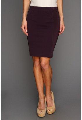 BCBGMAXAZRIA Montana Pencil Skirt (Dark Violet) - Apparel