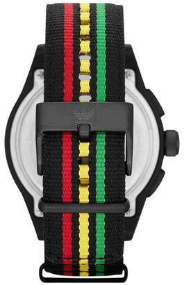 adidas 'Newburgh' Nylon Strap Watch, 48mm