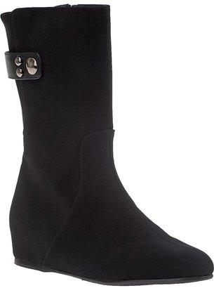 Stuart Weitzman Downpour Boot Black Gortex Fabric