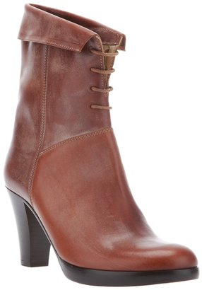 Zeha lace-up mid calf boot