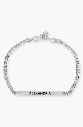 Women's Argento Vivo Small Personalized Bar Bracelet $98 thestylecure.com