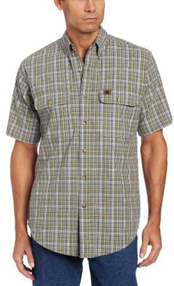 Wrangler Men's Foreman Plaid Work Shirt