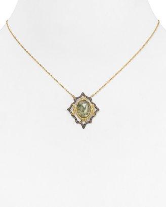 """Alexis Bittar Jardin De Papillon Lace Moss Agate Doublet Pendant Necklace, 15"""""""