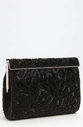 Nina 'Meadow' Beaded Frame Clutch - Black $125 thestylecure.com