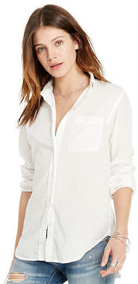 Ralph Lauren Denim & Supply Cotton Boyfriend Shirt $89.50 thestylecure.com