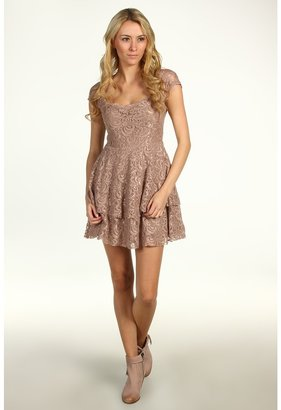 Free People Rock Candy Lace Dress (Taupe) - Apparel