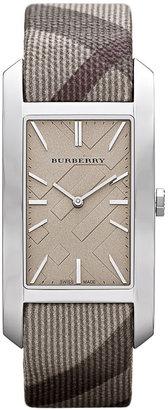 Burberry Rectangular Check Strap Watch