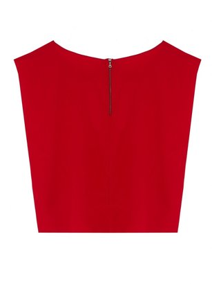 Alice + Olivia Lincoln Cropped Boxy Cap Sleeve Top