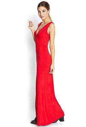 Forever 21 Sleek Surplice Slit Maxi Dress