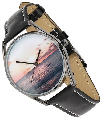 Topman Sunset Leather Strap Watch, 30mm
