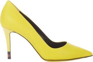 Fendi Pointed Toe Pump-Yellow