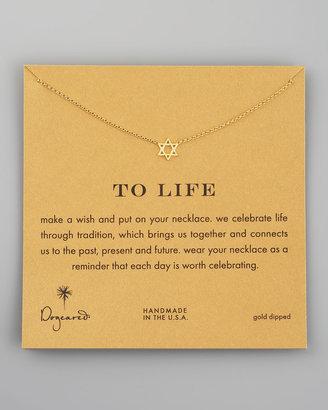Dogeared Star of David Pendant Necklace