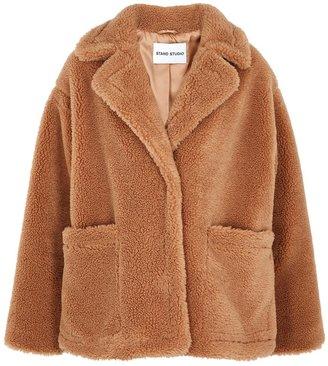 Stand Studio Marina Brown Faux Shearling Jacket