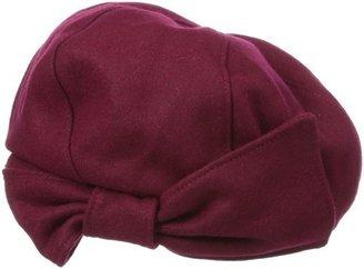 San Diego Hat Company San Diego Hat Women's Wool Beret Hat with Felt Bow