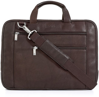 Kenneth Cole Reaction Leather Colombian Double Gusset Laptop Brief
