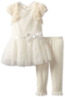 Nannette Baby-Girls Infant 2 Piece Dress And Knit Pant Set