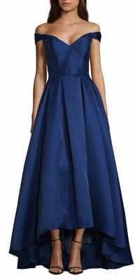 Xscape Evenings Off-The-Shoulder Pleated Ball Gown