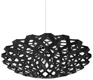 David Trubridge Flax Pendant Lamp All Black