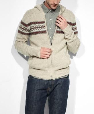 Levi's Fair Isle Zip-Front Sweater