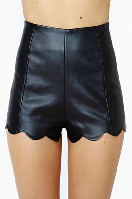 Nasty Gal Fever Dream Faux Leather Shorts