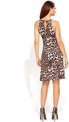 INC International Concepts Dress, Sleeveless Keyhole Animal-Print
