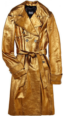 D&G Metallic leather trench