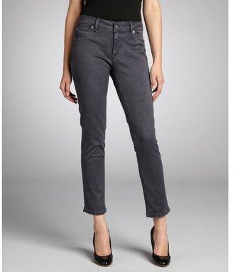 DL1961 Premium Denim grey dyed stretch denim 'Angel' skinny ankle jeans