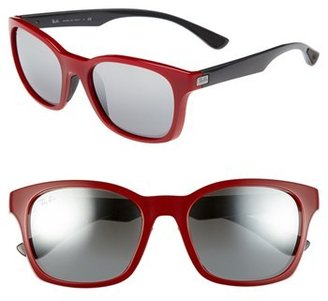 Ray-Ban 56mm Square Mirrored Lens Sunglasses