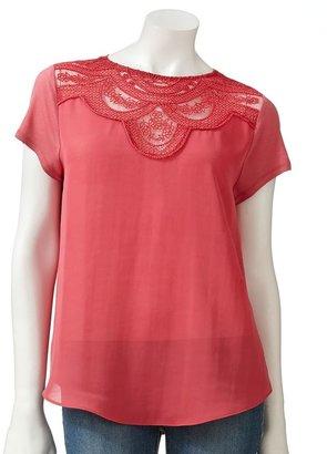 Lauren Conrad embroidered top