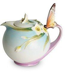 Franz Collection Papillon Butterfly Teapot