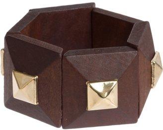 Charlotte Russe Wood Pyramid Stud Bracelet