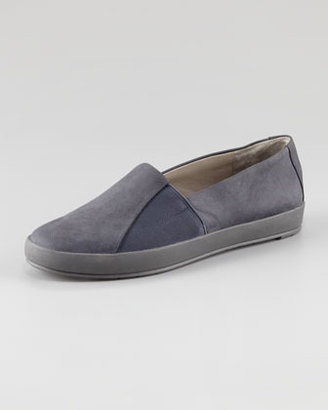 Eileen Fisher Chase Gored Nubuck Slip-On Loafer