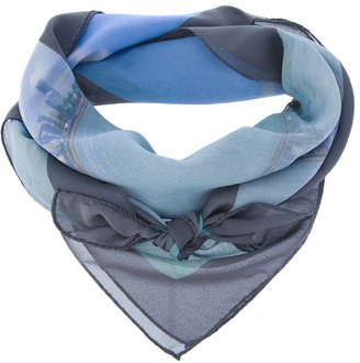 Mdgraphy two-tone silk scarf