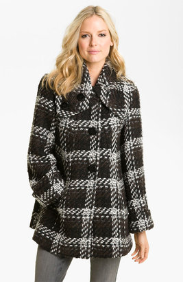 1 Madison Wing Collar Plaid Coat