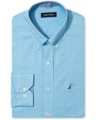 Nautica Dress Shirt, Aqua Oxford Long Sleeve Shirt