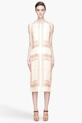 Chloé Ivory and orange layered pleated tunic Dress