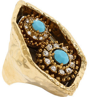 Juicy Couture Modern Nostalgia-Double Cluster Ring