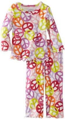 Sara's Prints Girls 2-6X Peace Ruffle Top And Pant