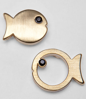 Fred Flare Here Fishy Stud Earrings