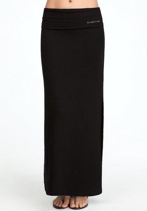 Bebe Fold Over Waist Maxi Skirt