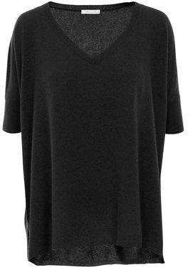 Minnie Rose T39131C16 Cashmere Short Sleeve Boyfriend In Black