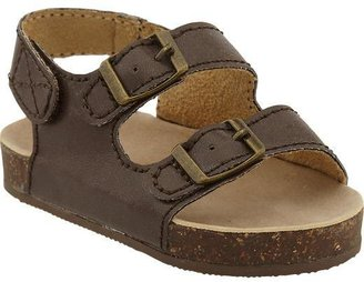 Old Navy Faux-Leather Buckled Sandals for Baby