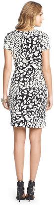 Diane von Furstenberg Zoe Short Sleeved Silk Jersey Dress