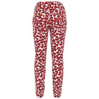 Juicy Couture Denim Heart Print Skinny Jeans