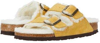 Birkenstock Arizona Shearling (Ochre/Natural Suede/Shearling) Women's Shoes
