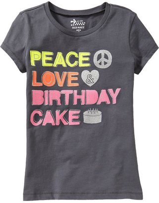 Old Navy Girls Birthday-Graphic Tees