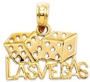 Macy's 14k Gold Charm, Las Vegas Dice Charm